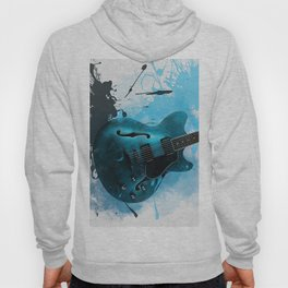 Electric Blue Guitar Hoody