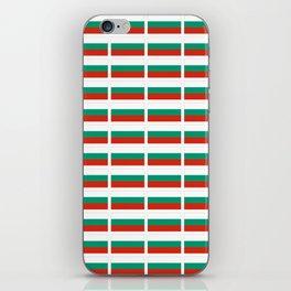 flag of bulgaria -bulgarian, България,български,slav,cyrillic,Sofia,bulgaria iPhone Skin