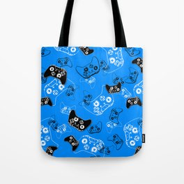 Video Game in Blue Tote Bag