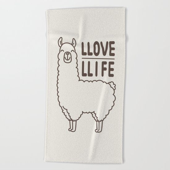 Love Life Beach Towel