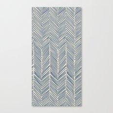 Freeform Arrows in navy Canvas Print