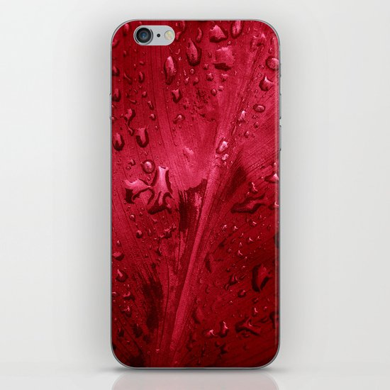 red passion II iPhone & iPod Skin