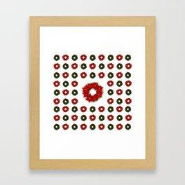 Christmas Wreath Pattern Framed Art Print