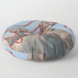 O Canada Moose with Mittens Floor Pillow