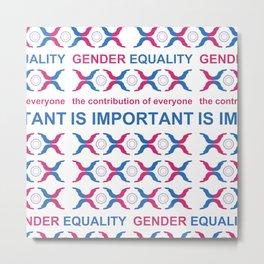 Gender Equality_10 by Victoria Deregus Metal Print