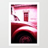 vw Art Prints featuring VW Kaefer by Julia Aufschnaiter