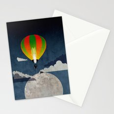 Picnic in a Balloon on the Moon Stationery Cards