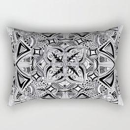Hand drawn full page mandala Rectangular Pillow