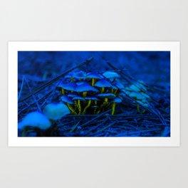 champignon bleu Art Print