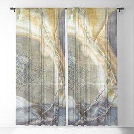 Petrified wood 2003 Sheer Curtain