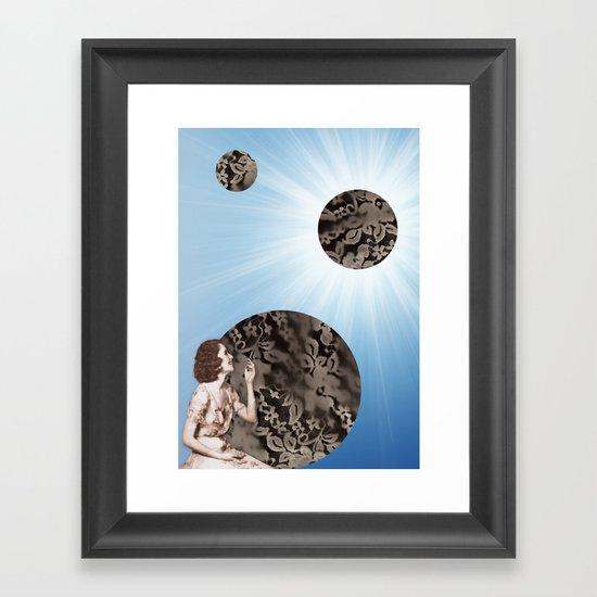 Lace Bubbles Framed Art Print