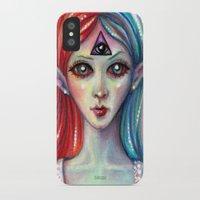 third eye iPhone & iPod Cases featuring Third Eye by Mary Nason (MiaSnow)