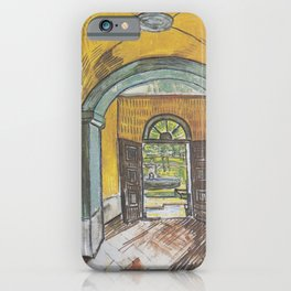 Vincent van Gogh - Lobby of the hospital of Saint-Paul iPhone Case