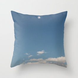 fly · moon sky Throw Pillow