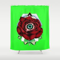all seeing eye Shower Curtains featuring All Seeing Eye by Swank