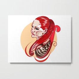 Cervena Fox Metal Print