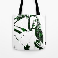 kate moss Tote Bags featuring Kate Moss by fashionistheonlycure