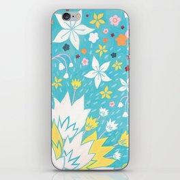 Aqua Lilies iPhone Skin