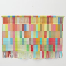 colorful rectangle grid Wall Hanging