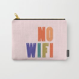 NO WIFI typography Carry-All Pouch