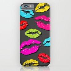 Colored Kisses Grey Slim Case iPhone 6s