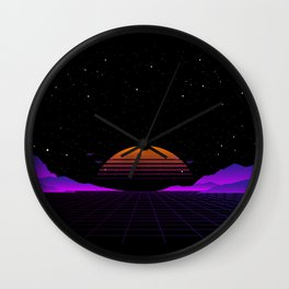 Vaporwave Outrun | Eighties Style Wall Clock