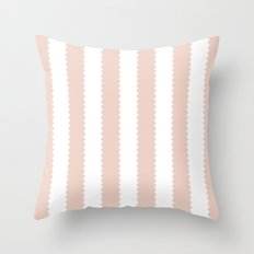 PALE DOGWOOD STRIPES Throw Pillow