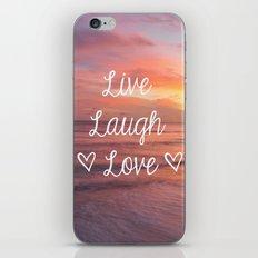 Live Laugh Love - Beach iPhone Skin