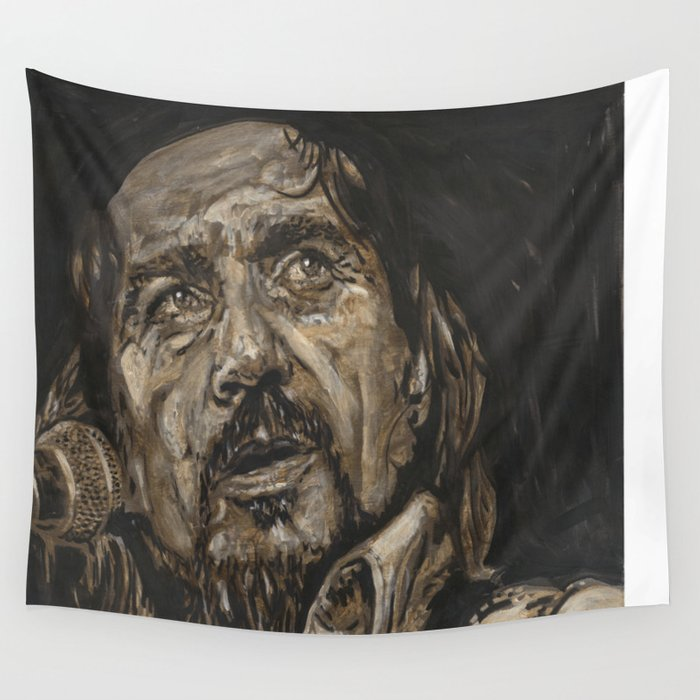 Waylon Jennings Wall Tapestry