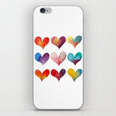 color of hearts iPhone & iPod Skin