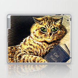 """Cat Tales"" Cat Reading Book - Louis Wain Laptop & iPad Skin"