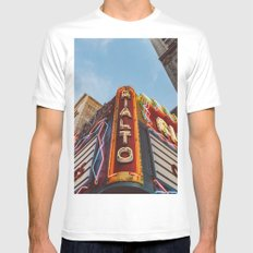 Los Angeles Rialto Theatre White Mens Fitted Tee MEDIUM