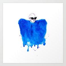 Cobalt Love II Art Print