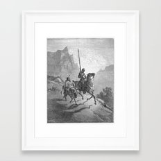 Don Quijote Framed Art Print