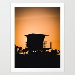 Huntington Beach In the Morning Art Print