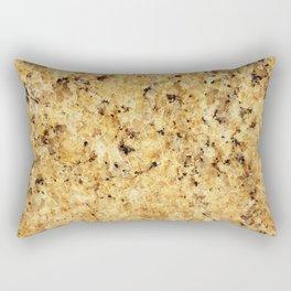 Modern gold yellow black abstract stylish marble Rectangular Pillow