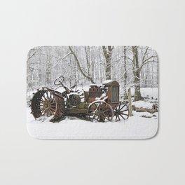 Steel and Snow Bath Mat
