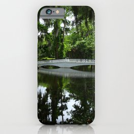 White Bridge On Magnolia Plantation iPhone Case