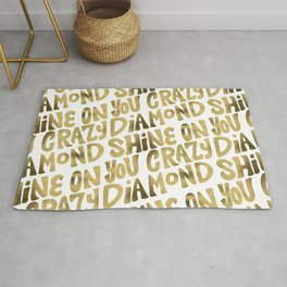 Shine On You Crazy Diamond – Gold Palette Rug