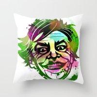 joker Throw Pillows featuring JoKER by BIG Colours