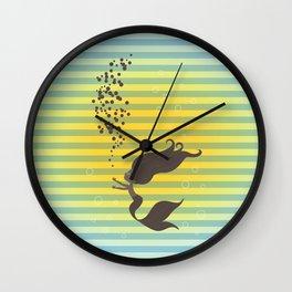 Black Mermaid Wall Clock