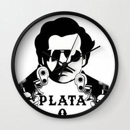 Plata o Plomo Design Funny Colombian Gift fo Escobar Lovers Wall Clock
