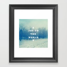 Joy To The World Framed Art Print