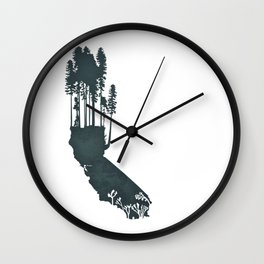 California is...The Forest Wall Clock
