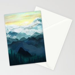 Mountain Range Stationery Cards