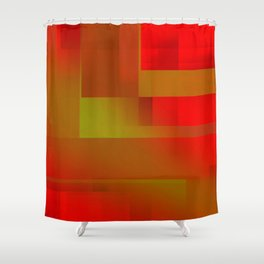 red day Shower Curtain