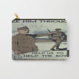 Vintage poster - See Him Through Carry-All Pouch
