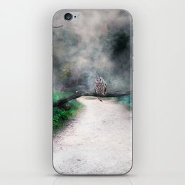 An owl on the path iPhone Skin