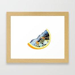 Orange Sea Tank Framed Art Print