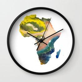 Africa map temperature Wall Clock